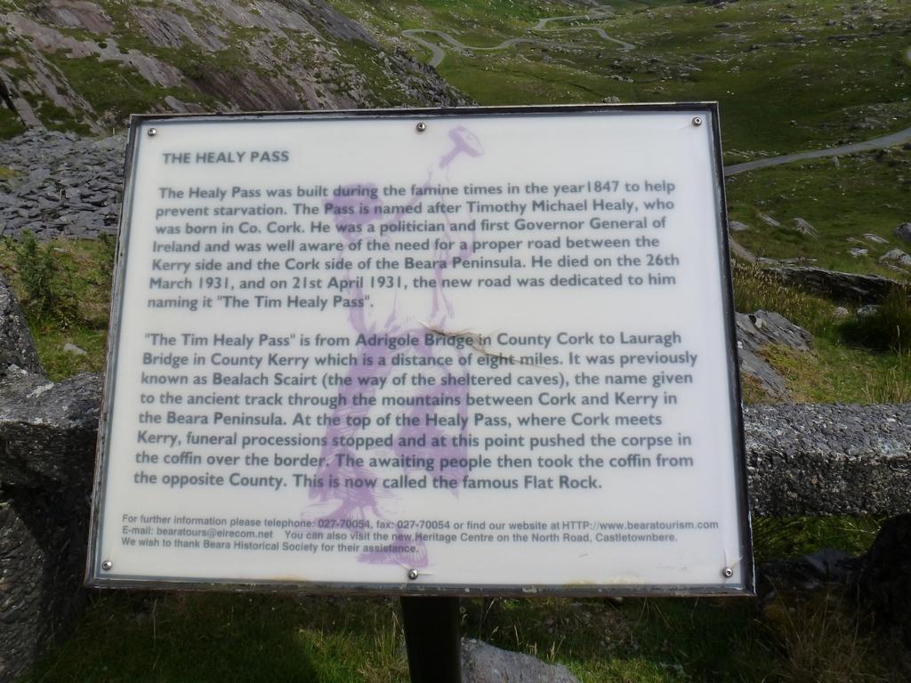 Healy Pass, informatiebordje.