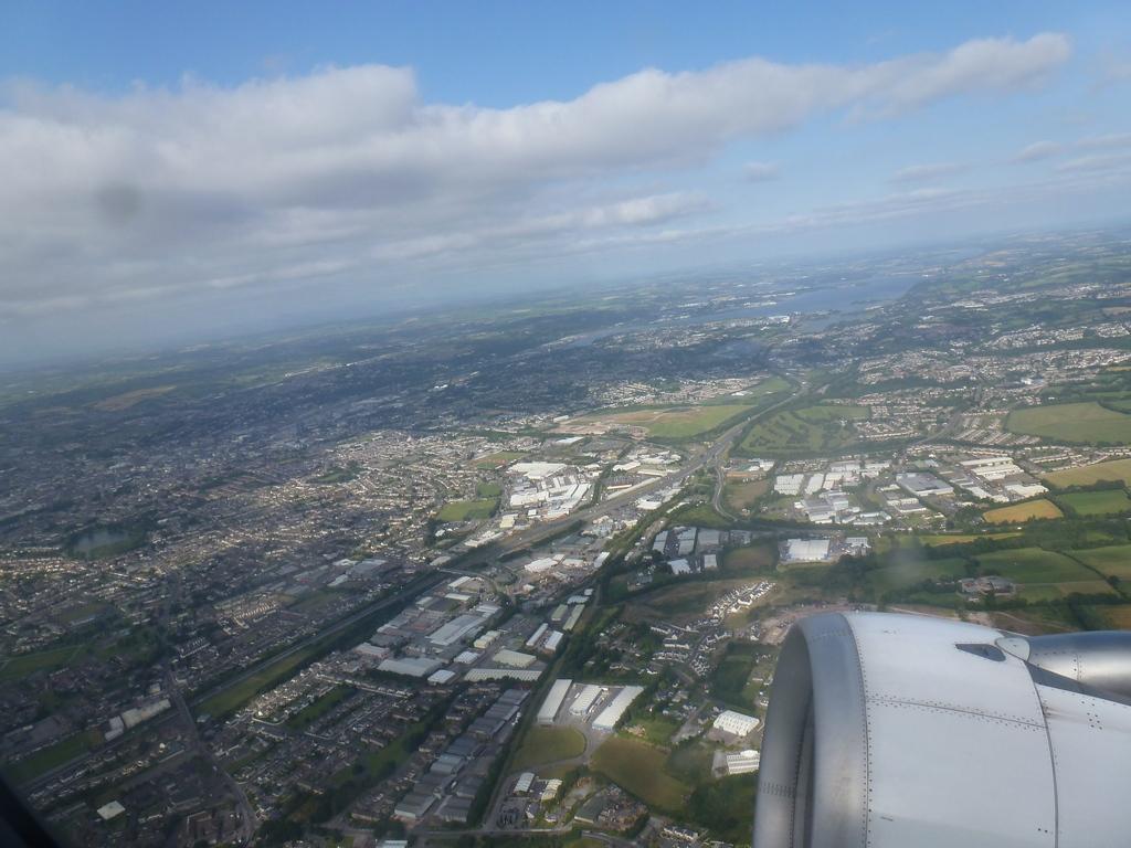 Cork City vanuit de lucht.