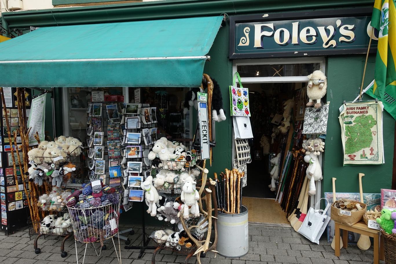 Het zoveelste souvenirswinkeltje in Kenmare...