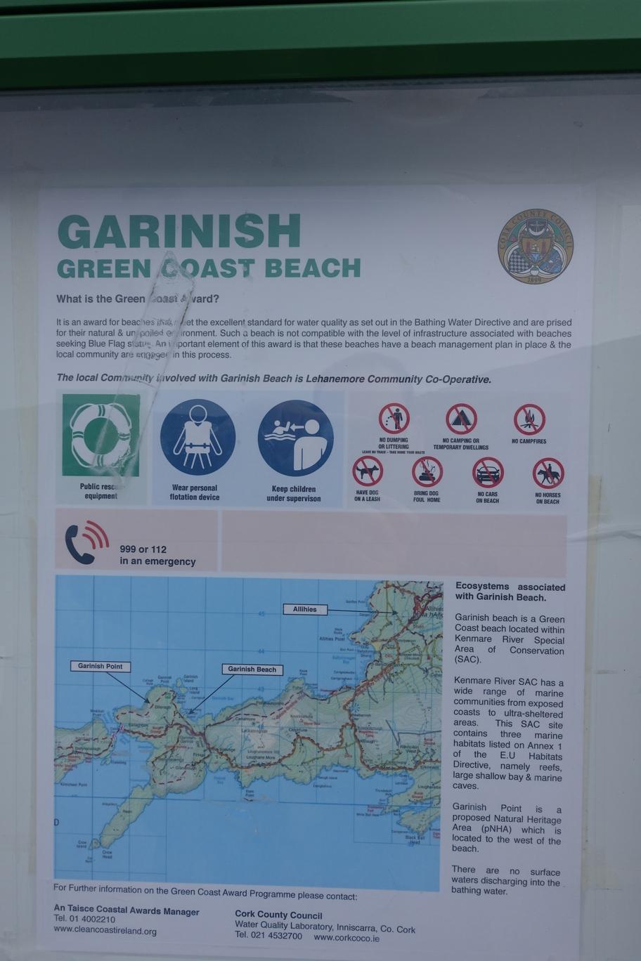 Garinish Green Coast Beach