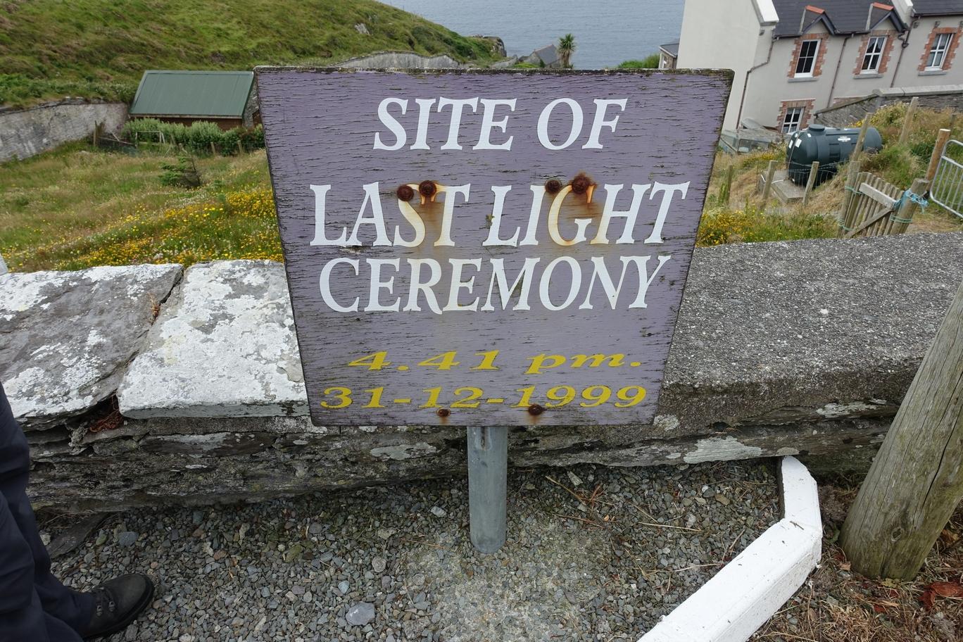 Site of Last Light Ceremony