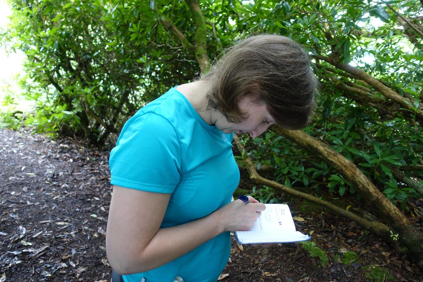 Geocache logboekje tekenen