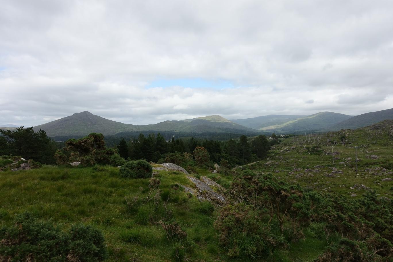 Uitzicht vanaf de plek waar we het officiële pad weer gevonden hadden